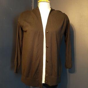 Alexander wang black cardigan button up